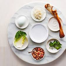 seder meal plate a modern seder plate for your symbolic passover foods martha stewart