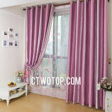 Curtain For Girls Room Pink Striped Floral Gradient Girls Room Heavy Decorative Patterned