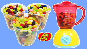 learn colors with jelly belly color blender pretend magic mixing