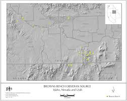 Map Of Idaho And Washington by Obsidian Source Maps United States