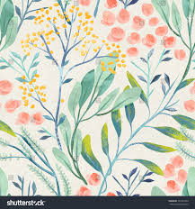 Flower Designs On Paper Seamless Hand Illustrated Floral Pattern On Stock Illustration