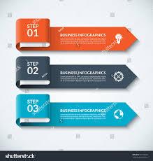 arrow design elements business infographics minimalistic stock
