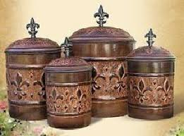 fleur de lis kitchen canisters kitchen canisters canister sets and fleur lis glass