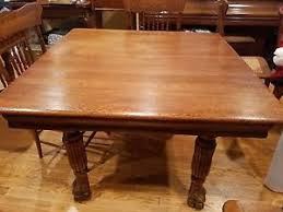 Antique Oak Dining Table EBay - Antique round kitchen table