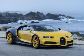car bugatti the first bugatti chiron in the us is very yellow roadshow