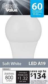 Led Light Bulb Cost Savings by Walmart Gets Aggressive On Led Light Bulb Pricing With New Line