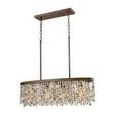 Linear Chandelier With Shade Linear Chandeliers Hanging Lights The Home Depot