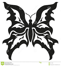 black and white butterflies tattoo design vector stock vector