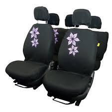 housse siege voiture housse couvre sieges 9 pcs brode fleur noir violet achat vente