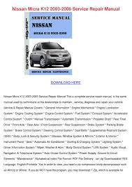 nissan micra k12 2003 2006 service repair man by sebastianrust issuu