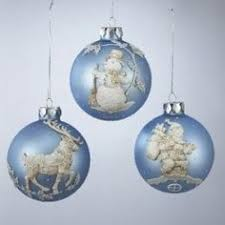 light blue tree ornaments lights card and decore
