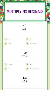decimals multiplication worksheet koogra