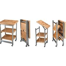 folding kitchen island cart butcher block kitchen island