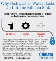 Why Dishwasher Water Is Backing Up Into Sink Climate Design - Kitchen sink backed up