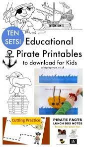 13 fun pirate crafts for kids and 10 pirate printables too in