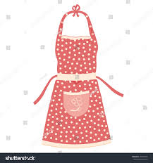 kitchen apron vector illustration isolated on stock vector