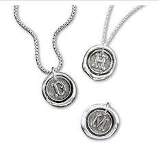 wax seal jewelry cerif initial wax seal pendant charm 7 8