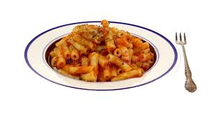 Five Cheese Marinara Sauce On Cavatappi Pasta With Chicken Meatballs - five cheese ziti cooked meal stock photo image of fork cheese