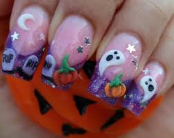 halloween nails love it so detailed looks more like a