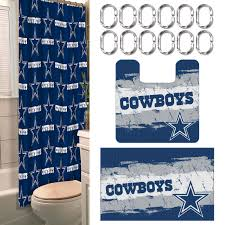 Nfl Shower Curtains Dallas Cowboys Bathroom Set