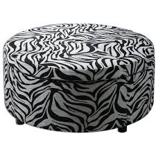 Animal Print Storage Ottoman Living Room Zebra Print Pattern Storage Ottoman Coffee