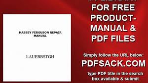 massey ferguson repair manual video dailymotion