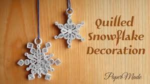 how to make quilled snowflake decoration with paper christmas