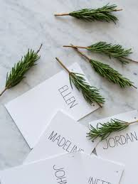 thanksgiving dinner place cards rosemary sprig place cards diy place cards spoon fork bacon