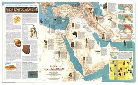 Middle East Map by 1978 Early Civilizations In The Middle East Map Historical Maps