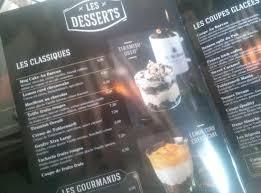 le bureau carte carte des desserts photo de au bureau belfort tripadvisor