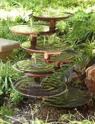 Copper Garden Art Rock Garden Waterfall Outdoor Decor Fountains Small Home Latest