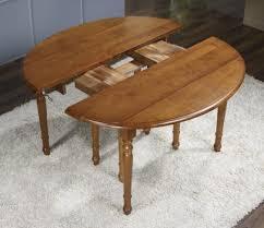 table ovale avec rallonge table ovale à volets clarisse 135x110 en merisier massif de style