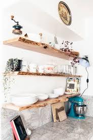 kitchen floating live edge shelves floating shelf hardware open