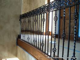 Banister Rails For Stairs Wrought Iron Stair Railing Southeastern Ornamental Iron Works