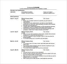 media resume template media cv template job seeker tv film radio
