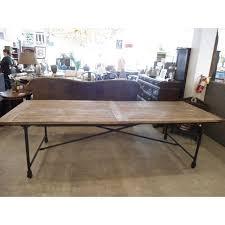 restoration hardware flatiron table restoration hardware flatiron dining table chairs chairish