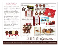holiday tidings chocolate signatures