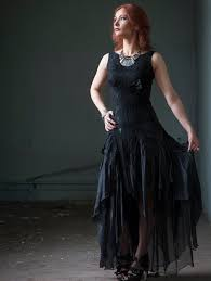 black wedding dress alternative bridal dress gothic bridal