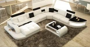 canapé angle design deco in canape d angle design panoramique blanc et noir