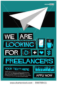 now hiring freelancers join us flat stock vector 555800053