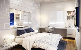 Stylish Bedroom Designs Small Bedroom Design With Study Desk Also White Shelves And Modern