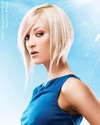 concave bob hairstyle pictures platinum blonde hair in a concave bob hairstyle with an angled line