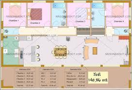 plan maison en l 4 chambres plan maison gratuit 4 chambres 2 tarif bois moderne au m2