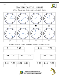 best solutions of clock matching worksheets for form