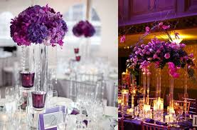 Purple Wedding Decorations Elegant Wedding Flowers Reception Table Centerpieces High
