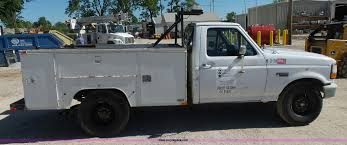 Ford F250 Utility Truck - 1995 ford f250 xl utility truck item k7190 sold june 15