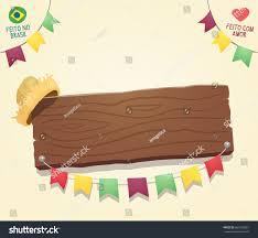 Cool Brazil Flag Brazilian June Party Cool Blank Wooden Stock Vector 661309567