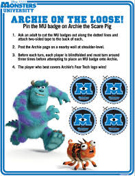 monsters university pin badge archie