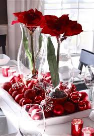 dining table center piece dining gorgeous glass vases with red flowers as dining table