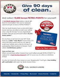 petrocanada buy a car wash gc and get 18 500 bp enough for 5c